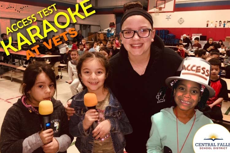 Karaoke at VETS Kicks-off a week of district-wide rallies for ACCESS test.