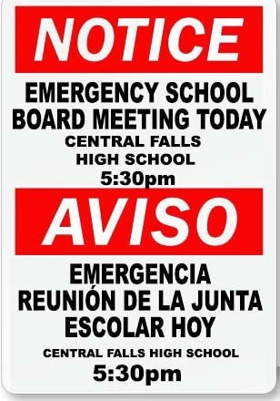 Emergency School Board Meeting