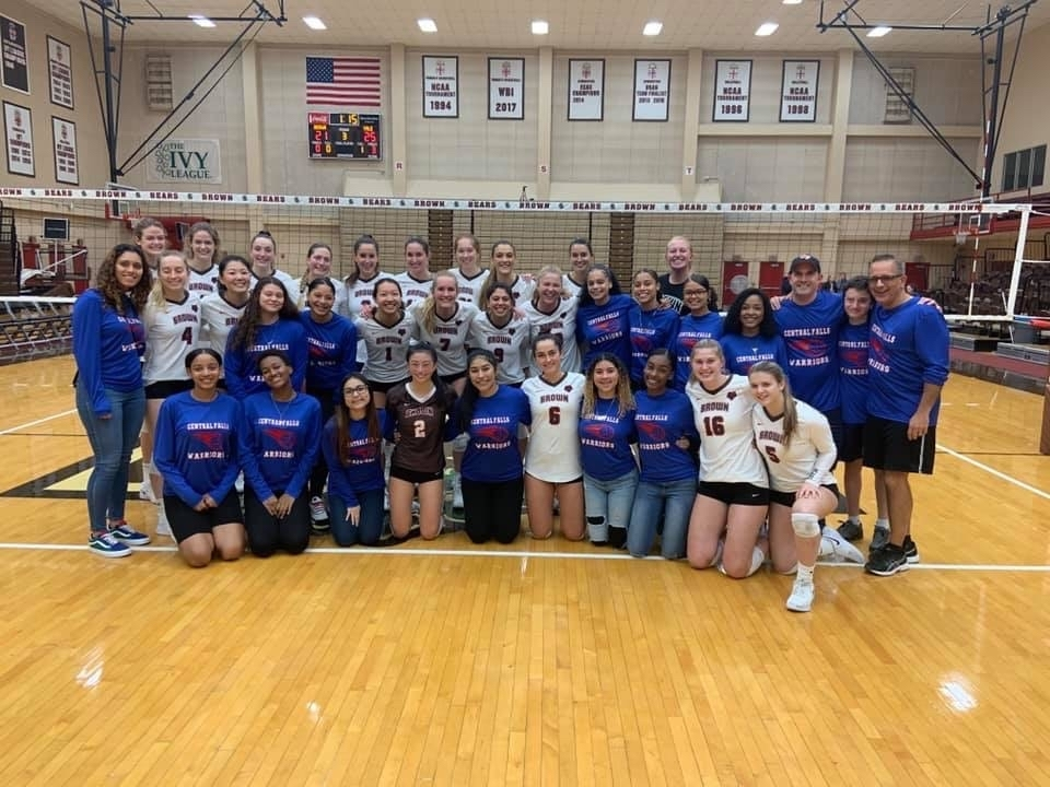 CFHS and Brown Uni volleyball teams.